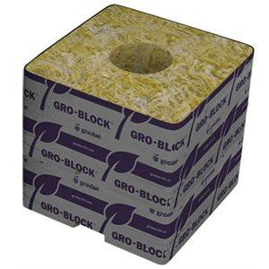 Grodan GRO-BLOCKS DELTA 4X4X4'' UNWRAPPED (box of 144) in Canada - IndoorGrowingCanada