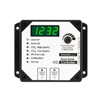 Grozone C02D 0-5000 ppm Dual Zone CO2 Controller in Canada - IndoorGrowingCanada