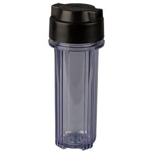 Hydrologic STEALTH-RO-FILTER HOUSING CLEAR W / BLACK CAP 3 / 8''