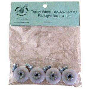 Light Rail PLASTIC WHEELS (box of 4) in Canada - IndoorGrowingCanada