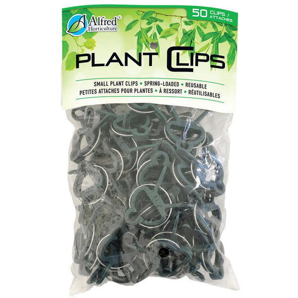 "Alfred Horticulture Plant Clips Spring Loaded Small 1 3 / 4"" x 1 1 / 8"" 50 / pk"