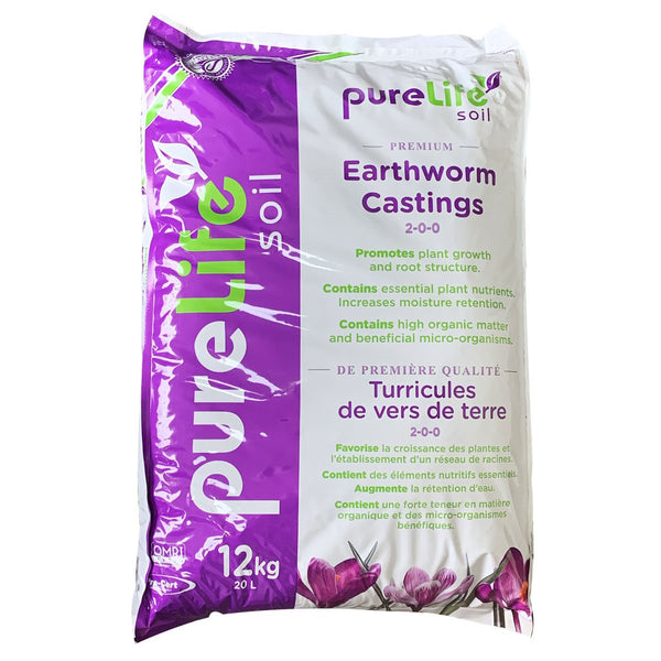 Pure Life Soil Earthworm Castings 20L