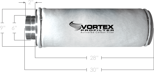 "Vortex PROfilter PRO70s 400 CFM 6"" Carbon Filter by Atmosphere"