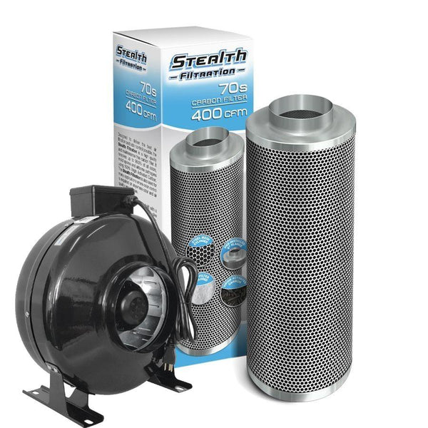 "Stealth Fan 6"" Inline Fan 460 CFM + Carbon Filter Kit"