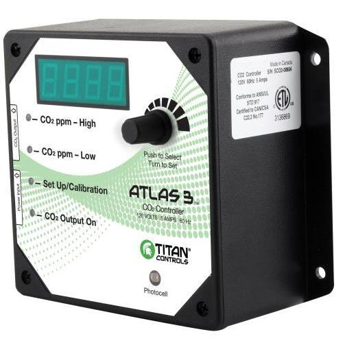 Titan Controls Atlas 3 -  Day/Night CO2 Monitor/Controller Co2