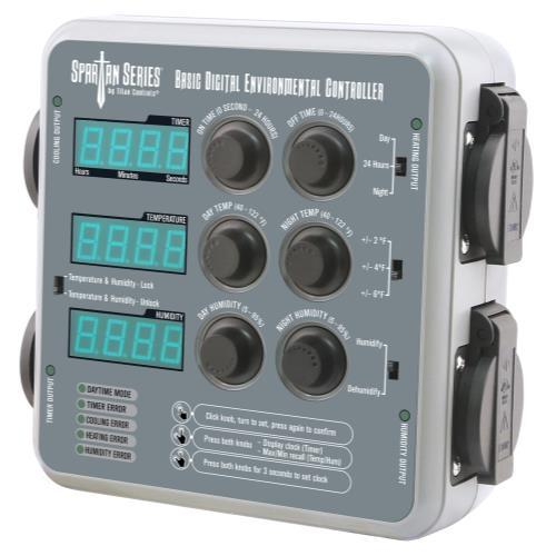 Titan Controls Spartan Series Basic Digital Environmental Controller (Temperature, CO2 Timer and Humidity) Co2