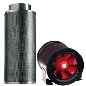 "Typhoon Combo MtAir 1456 Carbon Filter + Typhoon XL 12"" CFM Inline Fan"