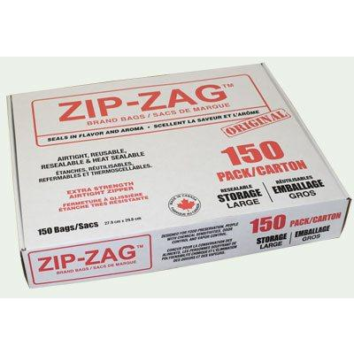 Zip-Zag Original Large Bags 27.9 CM X 29.8 CM (150) Accessories in Canada - IndoorGrowingCanada