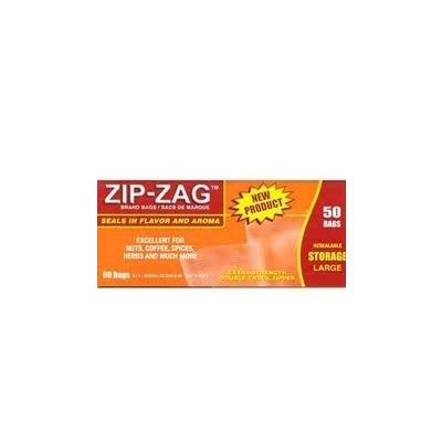 Zip-Zag Original Large Bags 27.9 CM X 29.8 CM (50) Accessories in Canada - IndoorGrowingCanada