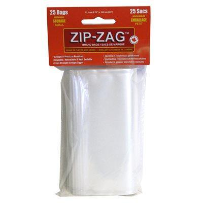 Zip-Zag Original Sandwich Bags 17,1cm X 16cm (25) Accessories in Canada - IndoorGrowingCanada