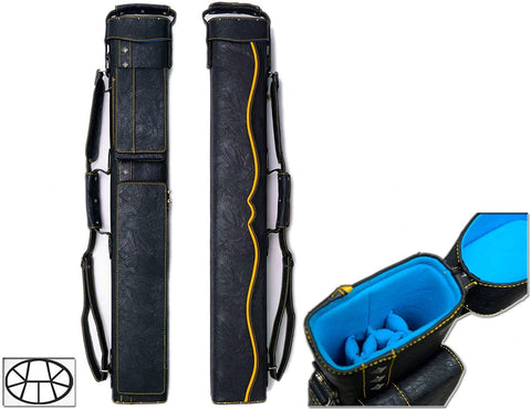 Delta 3x6 Hustler 3B6S Pool Cue Case (Several Colors Available)-Sports-Han's Delta-Yellow-Brishan