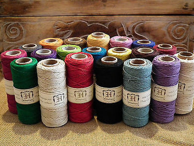 HEMPTIQUE HEMP CORD FULL LARGE ROLL 62.5m 205ft 50g 1mm 20lb BEADING JEWELLERY