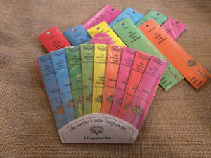 MOTHERS INDIA INCENSE * 12 MINI STICKS * FAIR TRADE HAND ROLLED LUXURY FRAGRANCE