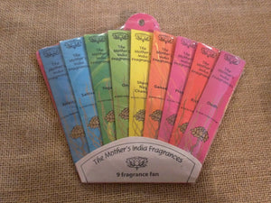 MOTHERS INDIA INCENSE * 12 CONES * FAIR TRADE HAND ROLLED NATURAL QUALITY SCENTS