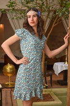 WRAP TEA DRESS * VINTAGE RETRO FLORAL BOHO * FAIR TRADE * 8 10 12 14 16 18 20 22