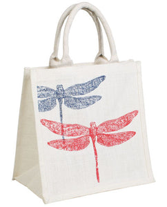 'DRAGONFLIES' JUTE SHOPPER