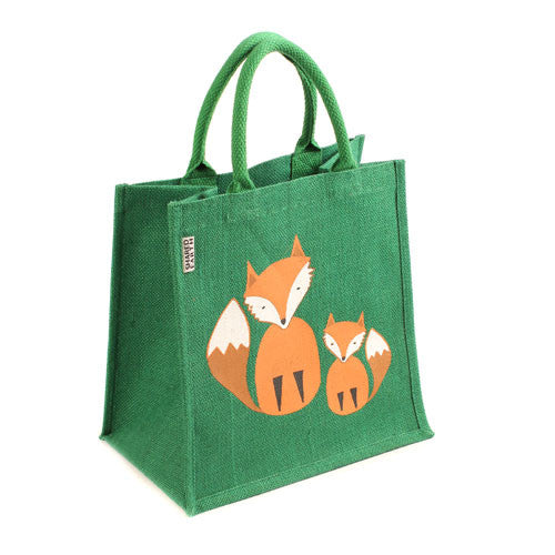 'FOX FAMILY' JUTE SHOPPER