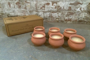 6 BOXED DALIT MURGAN CANDLES - LAVENDER