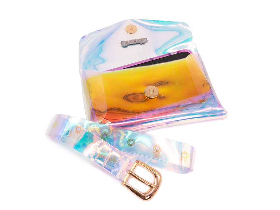 Holographic Jelly Fanny Pack with Belt - Bewaltz
