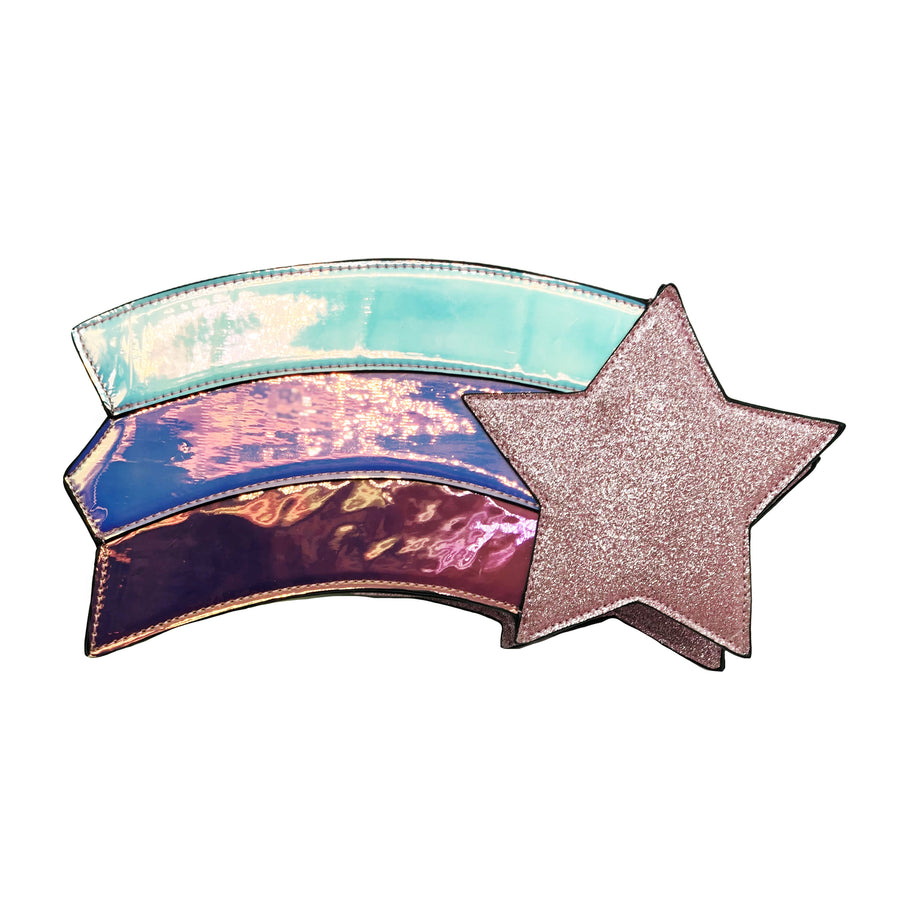 Shooting Star Handbag - Bewaltz novelty bags for teens novelty bags for tweens gift ideas for girls gifts for girls cute summer bags magic inspired accessories handbags adorable holographic glitter