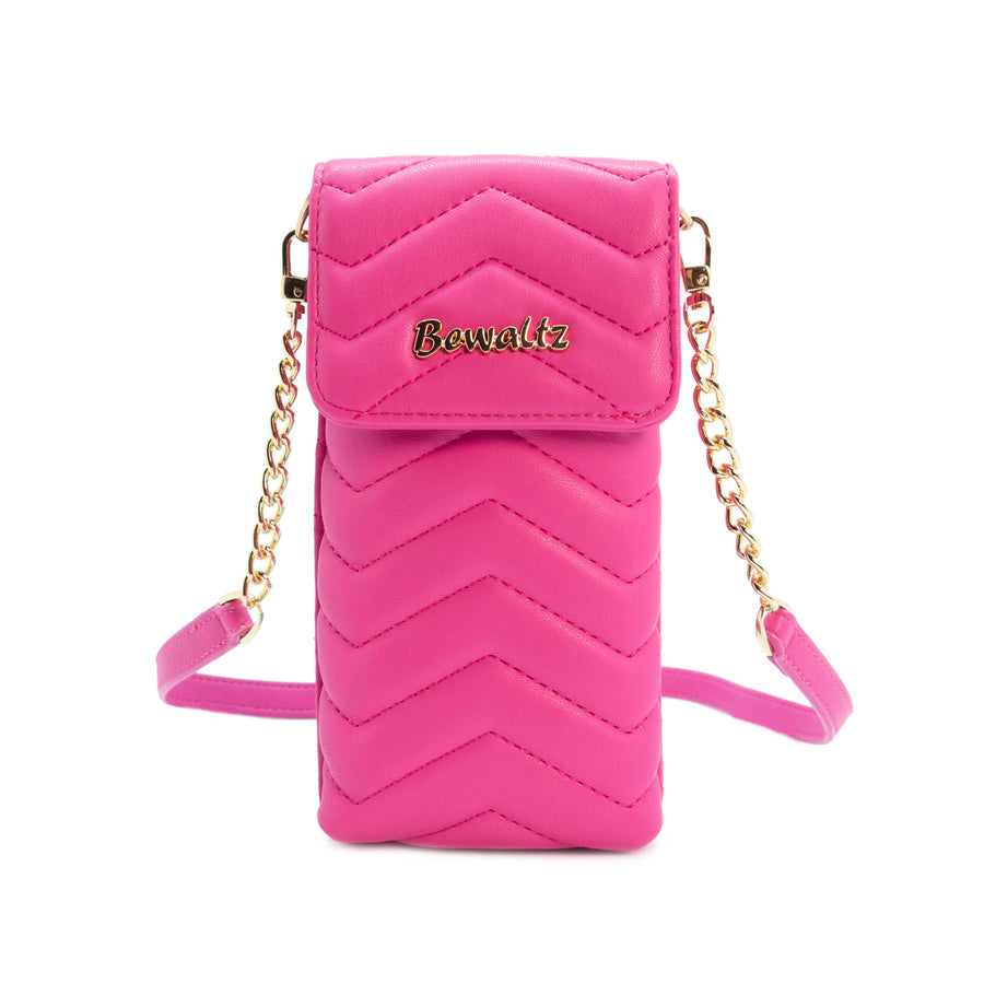 Mila Mini Crossbody Phone Wallet - Hot Pink - Bewaltz