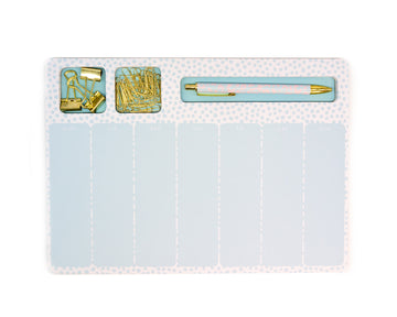 Blue Polka Dot Notepad Set - Bewaltz