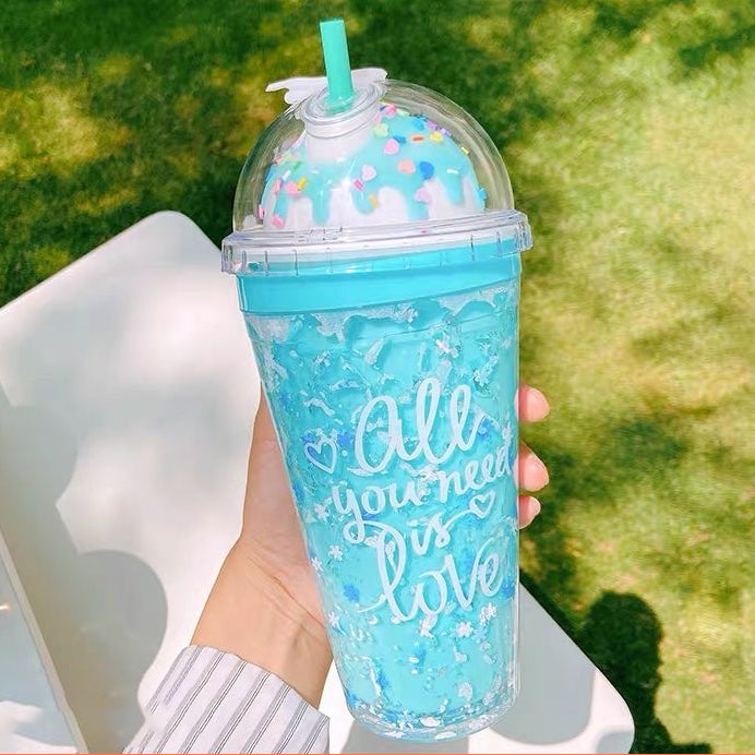 Ice Cream Sundae Tumbler - Blue Bubblegum - Bewaltz