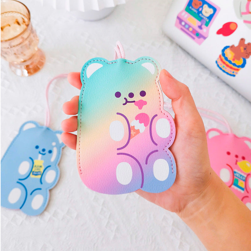 Cute Bear Keychain - Rainbow Ice Cream - Bewaltz