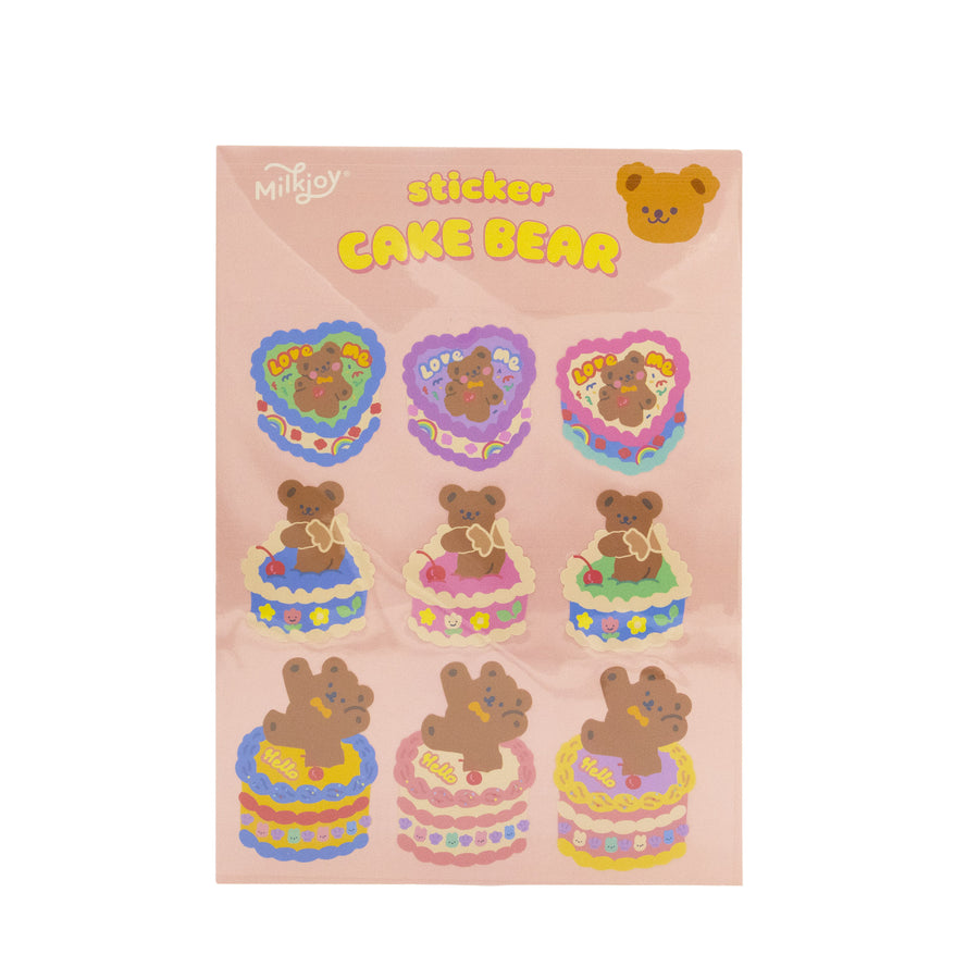 Cute Bear Sticker Pack - 3 Designs