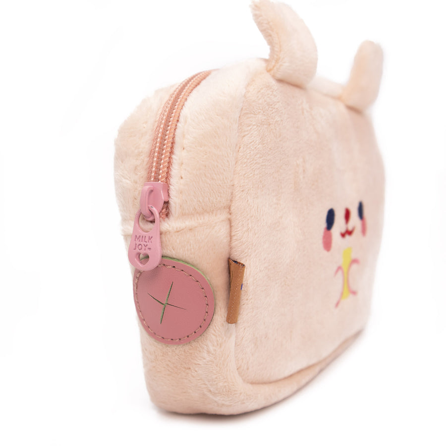 Cute Bunny Tech Pouch - Pink