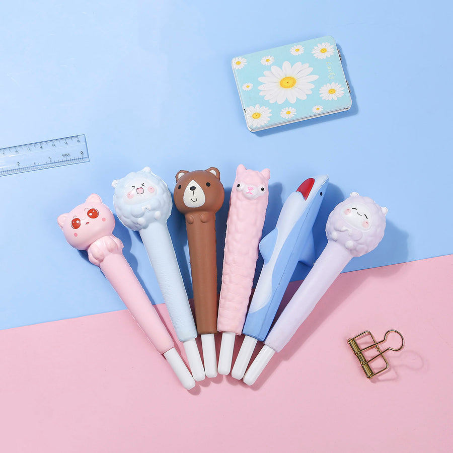 Foam Squeezie Pen Set - 6 Pieces