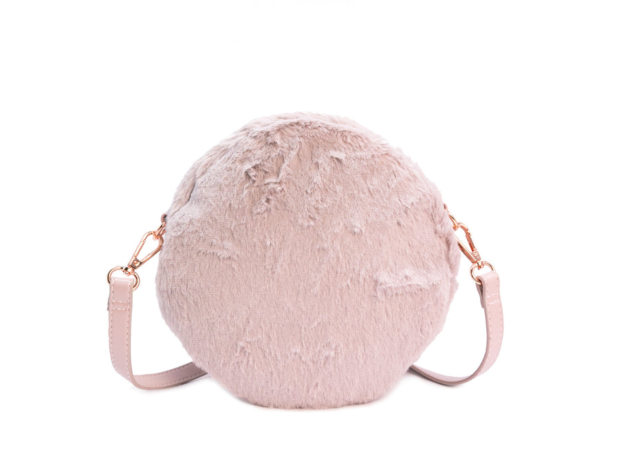 Furry Circle Crossbody Bag - Bewaltz