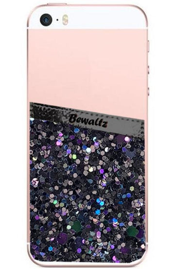 Phone Pocket Black Glitter - Bewaltz