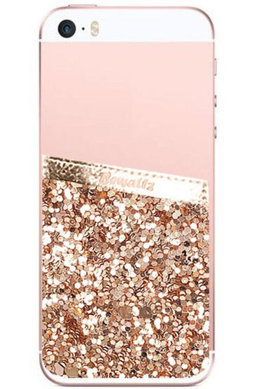 Phone Pocket Gold Glitter - Bewaltz