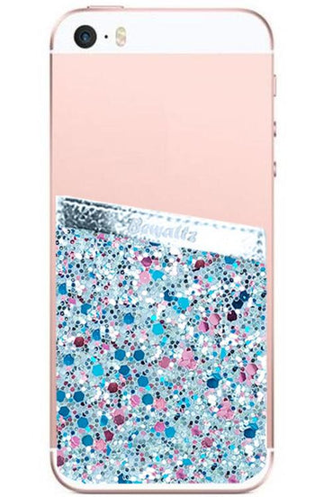 Phone Pocket Blue Glitter - Bewaltz