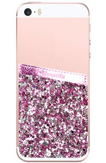 Phone Pocket Pink Glitter - Bewaltz