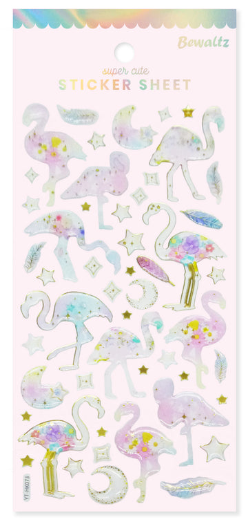 Sticker Sheet - Flamingo - Bewaltz