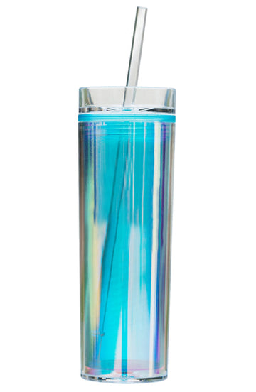 Holographic Tumbler - Blue Blank - Bewaltz