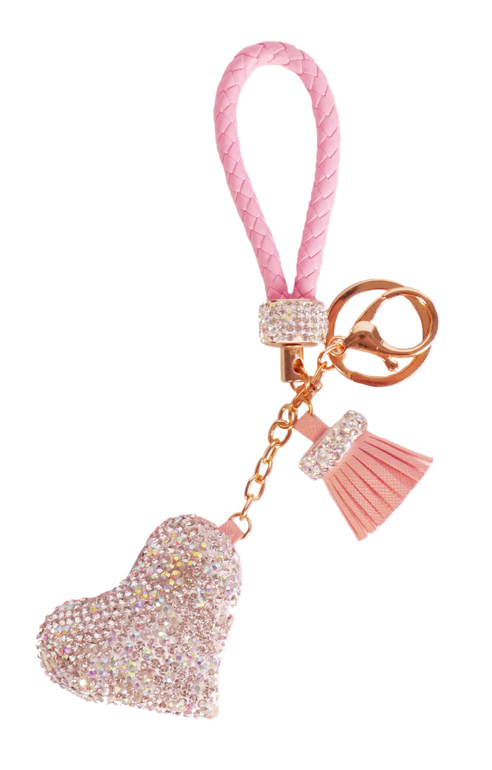 Diamond Charm Heart - Pink