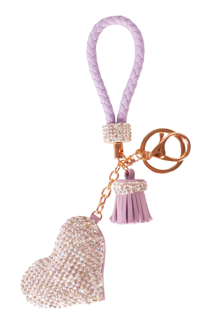 Diamond Charm Heart - Purple