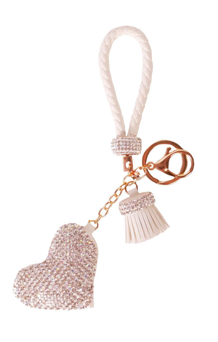Diamond Charm Heart - White