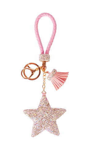 Diamond Charm Star - Pink