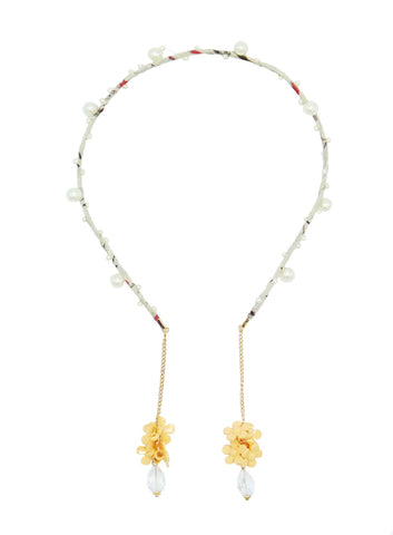 Earring Floral Headband - Yellow