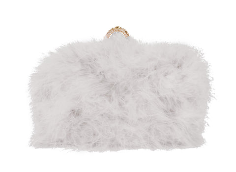 Furry Clutch - Gray