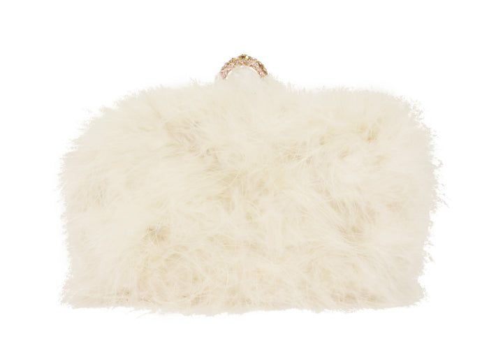 Furry Clutch - White