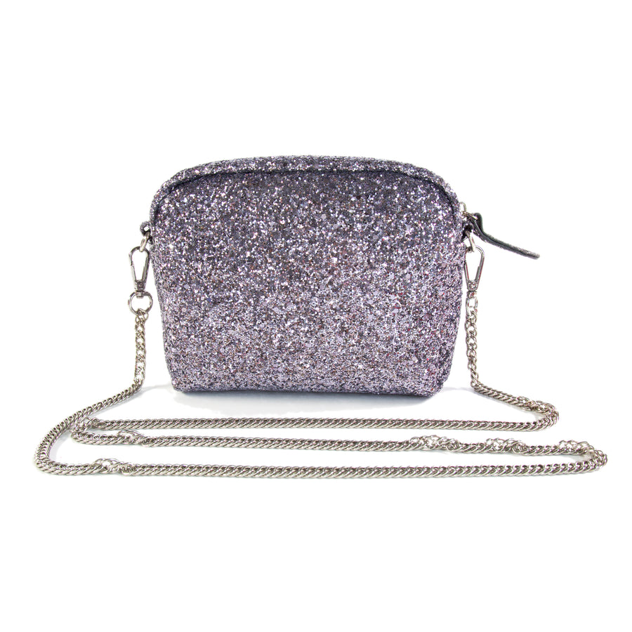 Glitter Crossbody Handbag - Gray - Bewaltz