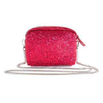 Glitter Crossbody Handbag - Hot Pink - Bewaltz