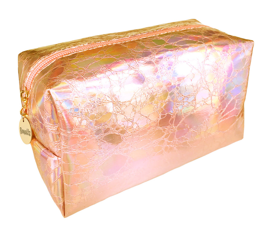 Holographic Makeup Bag Rose Gold - Bewaltz