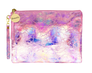 Holographic Makeup Pouch Small Pink - Bewaltz