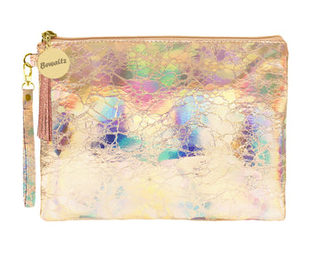 Holographic Makeup Pouch Small Rose Gold - Bewaltz